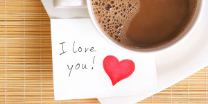 Coffee and love note